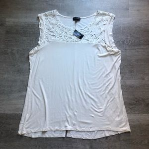 The Limited lace panel top sz XL